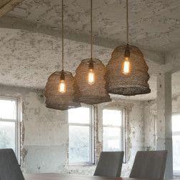 Hanglamp 'Molly' 3-lamps, 30cm per korf