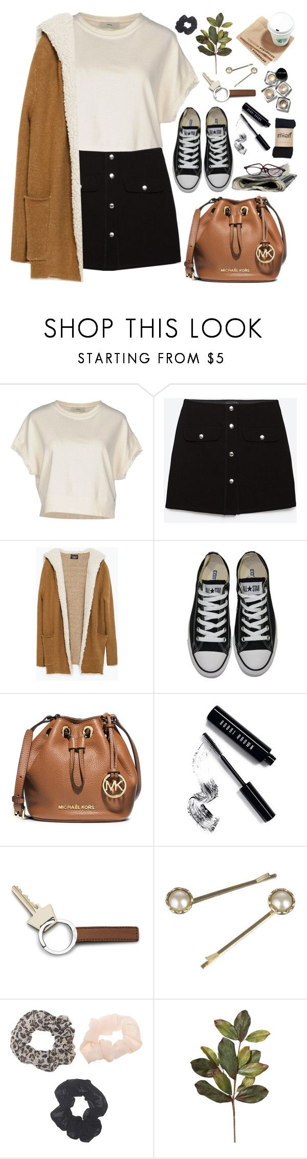"""2075. School"" by chocolatepumma ❤ liked on Polyvore featuring Diesel, Zara, Converse, MICHAEL Michael Kors, Bobbi Brown Cosmetics, Georg Jensen, Monsoon, Wet Seal, BackToSchool and michaelkors"