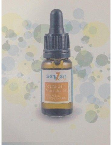 Aceite de árbol de té 10ml. Aceite esencial de nombre botánico Melaleuca Alternifolia, originario de Australia y destilado al vapor de sus hojas frescas.