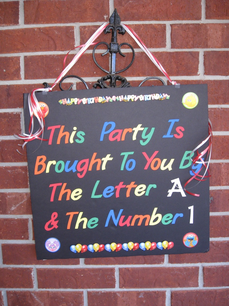 """Elmo Themed Party. The sign could say """"D"""" for Dominic and whatever age he is for the number."""