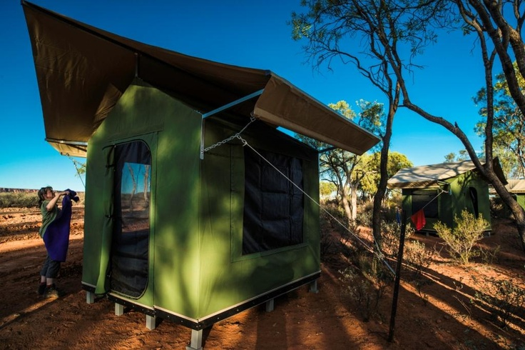 Uluru permanent campsite http://www.realaussieadventures.com/travel-info/articles/northern-territory-red-centre-permanent-campsites/
