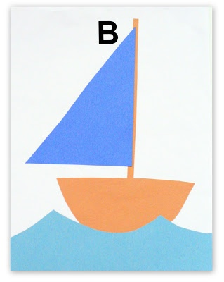 B is for Blue and Brown Boat ~ Homeschool Creations