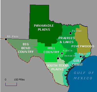 I used to teach Texas history and might have used this same map :) The Seven geographical regions of Texas taught in 7th grade Texas history.