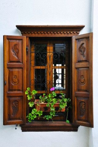 Window of Sirince, in Izmir province , Turkey..