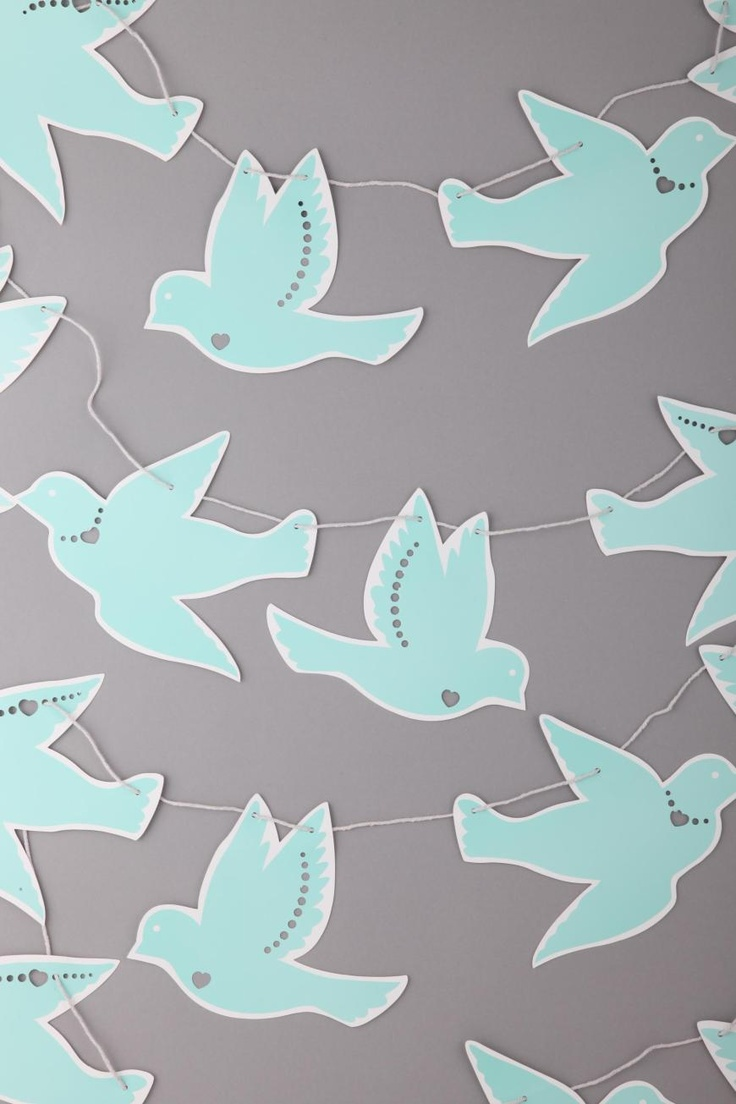 Paper bird bunting for across piano?