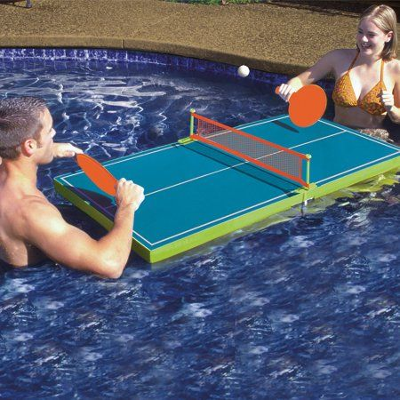 Poolmaster Floating Table Tennis Game Blue In 2019 Products
