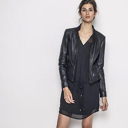 1000 ideas about blouson en cuir femme on pinterest. Black Bedroom Furniture Sets. Home Design Ideas
