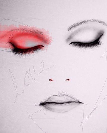 Scarlet - Art Print. $28.00, via Etsy.