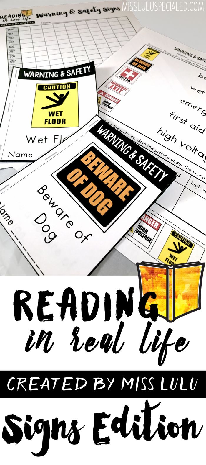 This sight based reading unit is perfect for students with severe disabilities or Autism. Includes activities and worksheets for 4 different environmental sign units, with a total of 100 words.