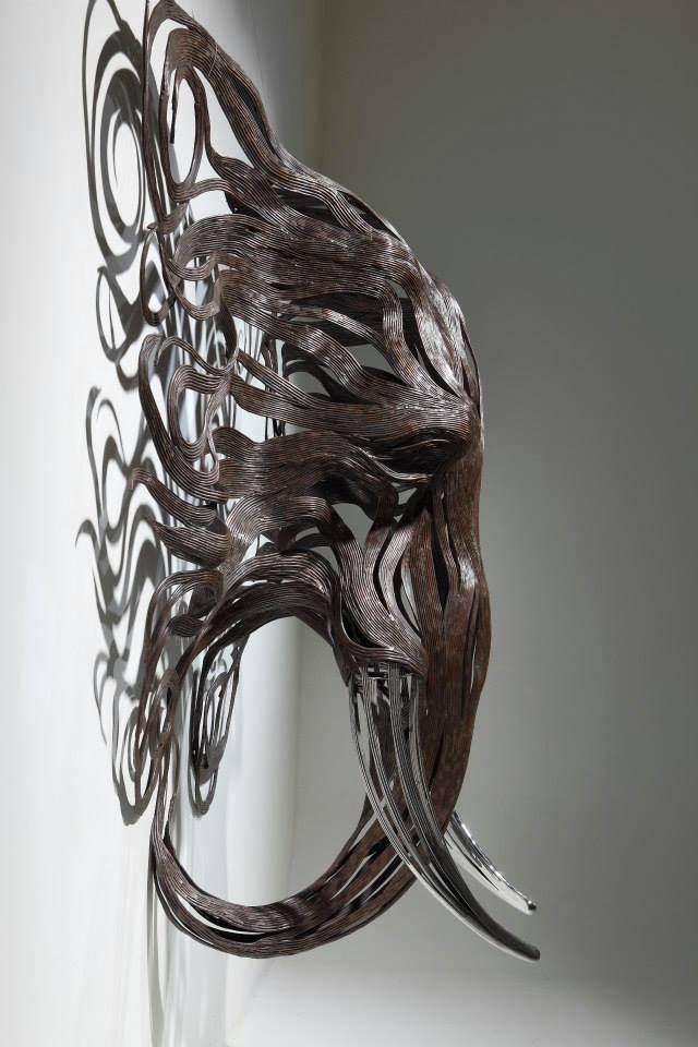 Les 25 meilleures id es de la cat gorie sculpture moderne sur pinterest scu - Sculptures metalliques murales ...