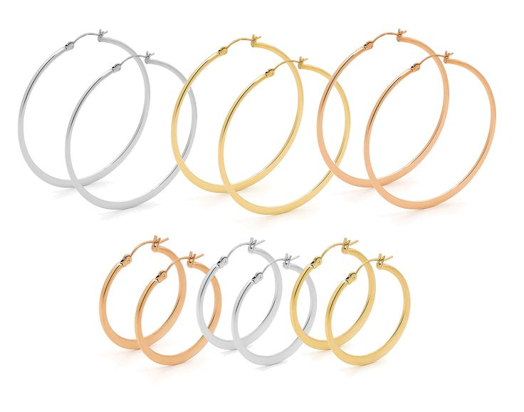 Classic hoops are back! Available at Tuskc in a variety of styles and finishes. Have a look at the range.