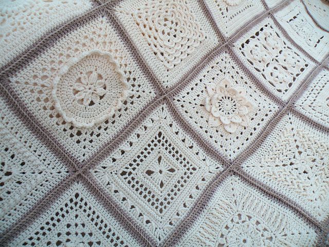 Cream Afghan II (patterns for most squares)