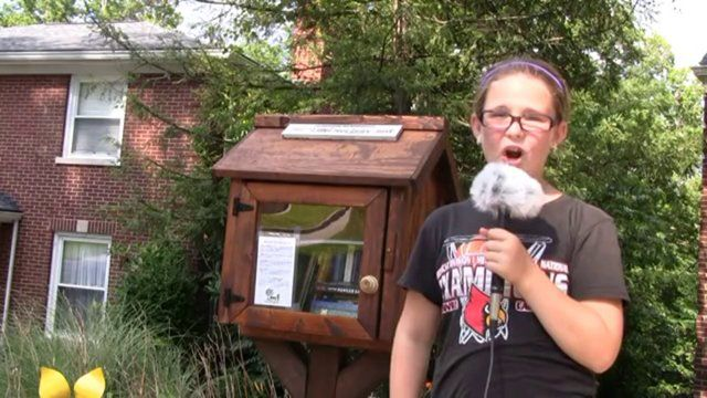 Little Free Library Story. Story featuring Adison Schanie by Beargrass Media about the Little Free Library.
