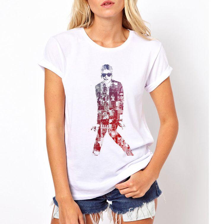 Harajuku Tee Shirt Funny Casual Cotton Femme Black Hip Hop Music Women's Bruno Mars Tribute T-shirt M87