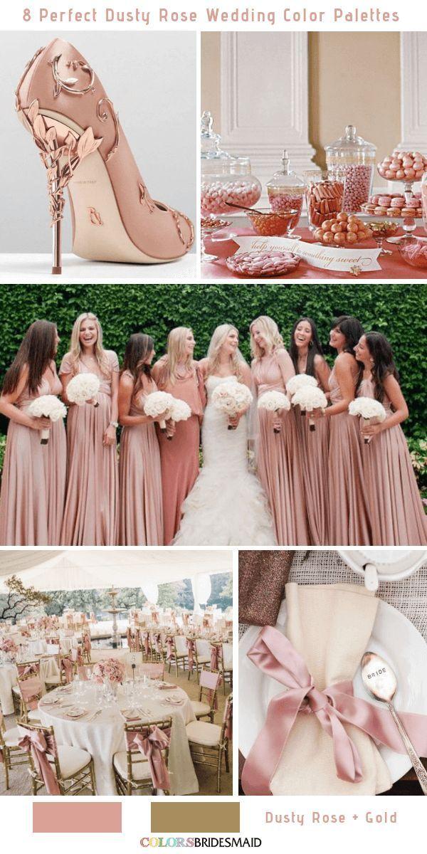 825aedf5fd 8 Perfect Dusty Rose Wedding Color Palettes for 2019 -No.5 Dusty Rose and  Gold #colsbm #bridesmaids #weddings #weddingideas #fallweddings b526