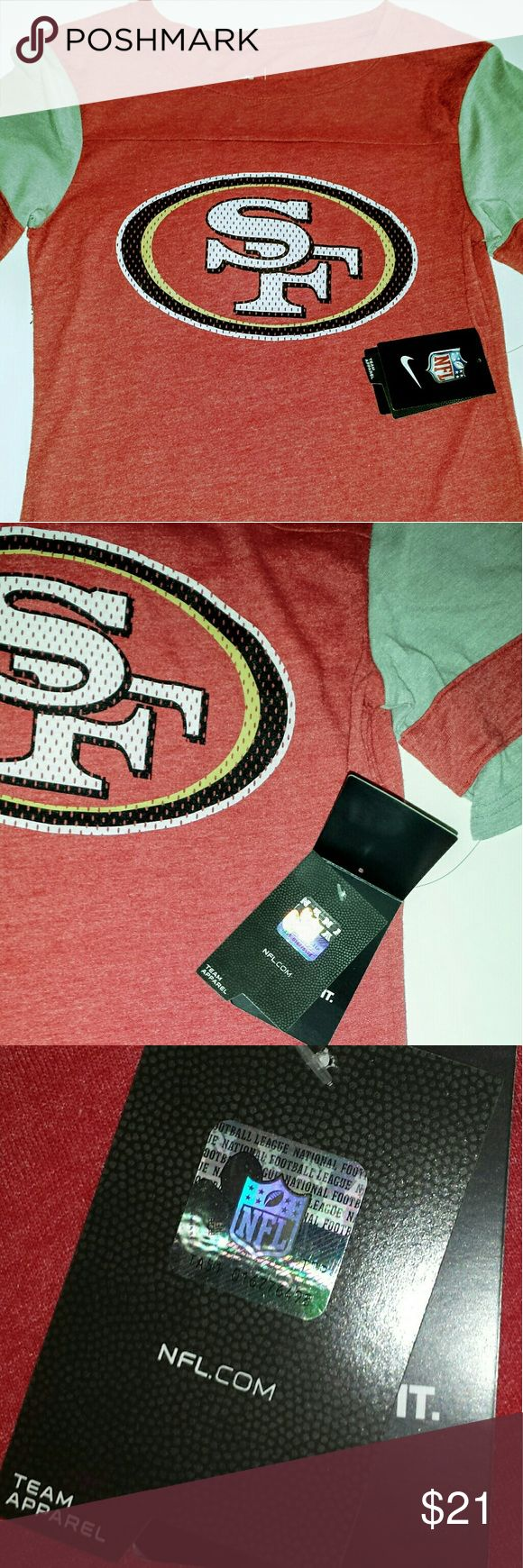 Nike NFL San Franciso 49ers Team Apparel New with Tags, NFL Serial #TA51-016776498 Nike Tops Tees - Short Sleeve