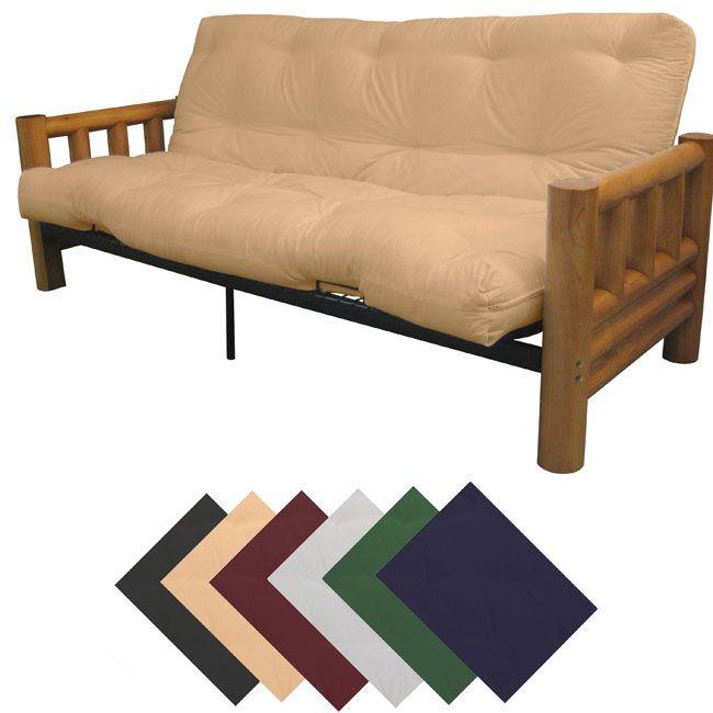 Yosemite Full Rustic Lodge Frame/ Premier Mattress Futon Set - Overstock™ Shopping - Great Deals on EpicFurnishings Futons