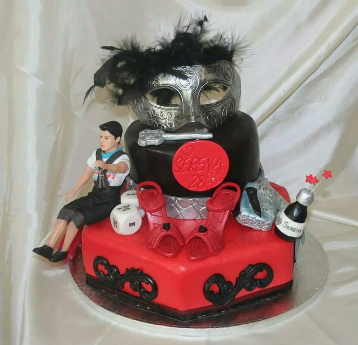 Fifty Shades of Grey Inspired Cake