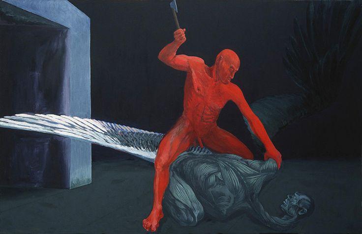 """Ryszard Woźniak """"Upadły anioł"""" (1988), Muzeum Śląskie w Katowicach"""