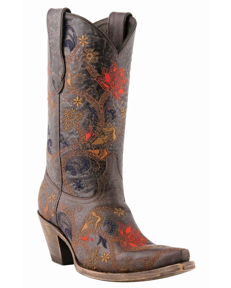 Lucchese Women's Tabacco Oklahoma Gardenia Floral S5 Toe Boot: Tabacco Oklahoma, Leather Boots, Women Lucch, Westerns Boots, Gardenias Floral, Lucch Boots, Boots M5026, Cowboys Boots, Calves