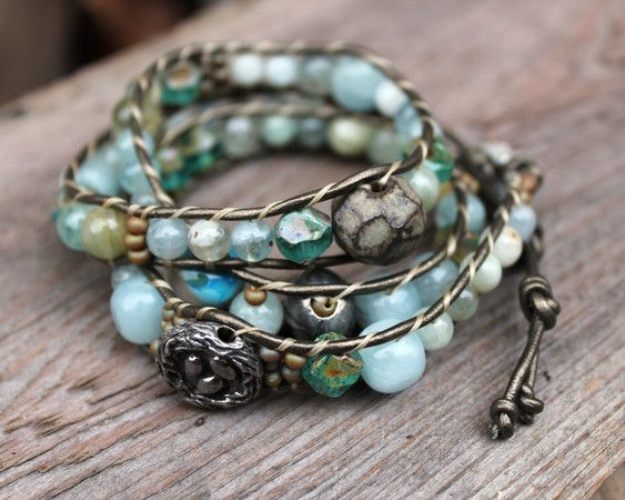 """DIY - I LOVE this design! They sell for CRAZY prices in stores and can be made so inexpensively. I look for unique charms to use as the """"button"""" clasp. Think outside the box"""