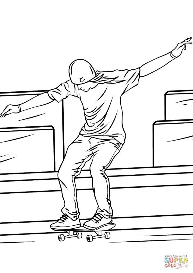 27+ Marvelous Image of Skateboard Coloring Page | Coloring ...