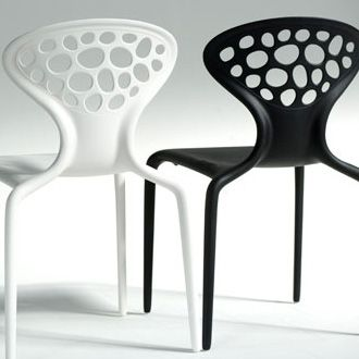 "Supernatural - R.Lovegrove  per Moroso 2005 - Characteristic for the stylish Supernatural Chair is the witty perforated pattern in its backrest. The original idea according to the designer himself was this: ""This new stackable chair has a structure that is the result of an evolution, more than of a design process... It represents a new vision of form, generated by digital data, resulting in a chair to be used every day, slender, lively and healthy."