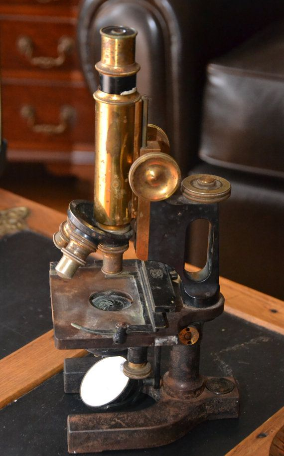 Antique Physicians Microscope Brass Spenser by justbecauseshecan, $90.00