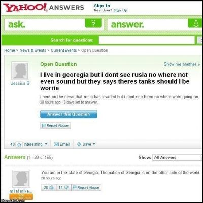 Where can I find the yahoo answers terms of service?