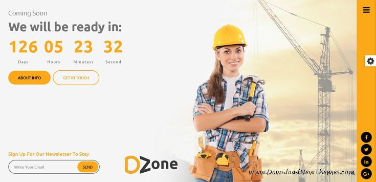 Dzone is awesome design 30+ responsive #HTML template for #comingsoon / under construction website with a countdown timer, subscription form, mail form, gallery, social icons and beautiful effects download now..