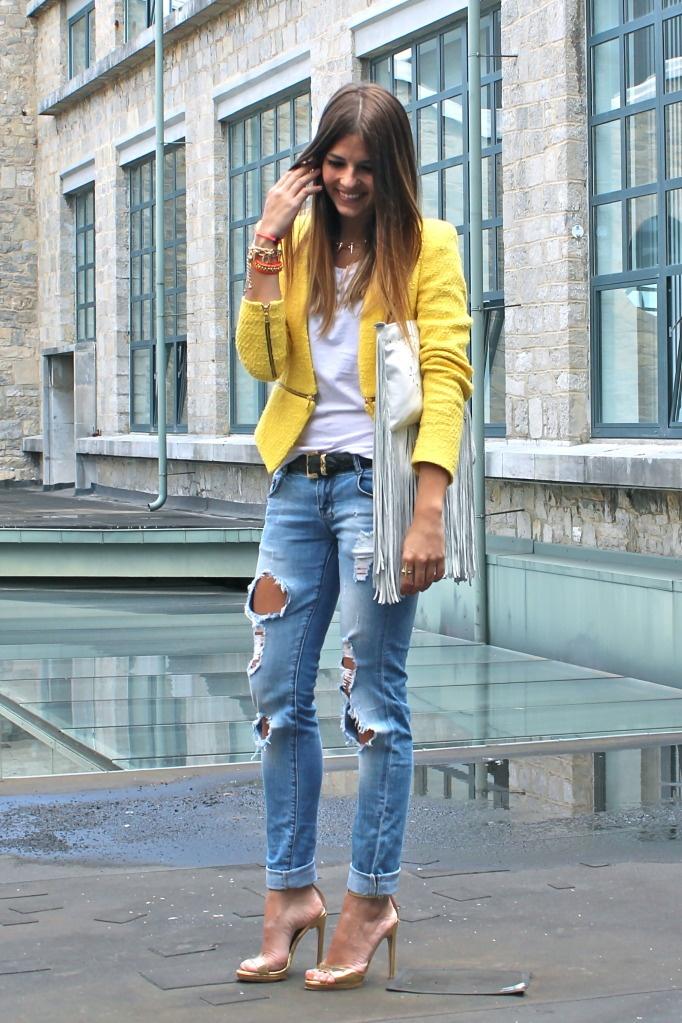 Boyfriend Jeans Yellow Blazer Beauty Fashion Trends Pinterest Blazers Boyfriend Blazer