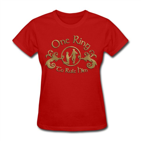 One Ring Women's T-Shirt Red Women's T-Shirt | SnapMade.com (86 RON) ❤ liked on Polyvore featuring tops, t-shirts, ribbed t shirt, sleeve t shirt, t shirt, tailored shirts and rib tee