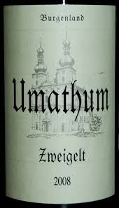 UMATHUM, Austria, a great name in Zweigelt, Balufraenkisch and other wines.