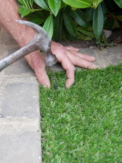 Nail Grass in Place to Secure