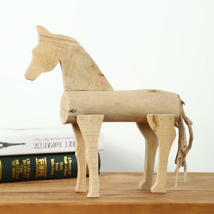 G nstige holzschnitzerei holzpferd holz pferd for Gunstige wohneinrichtung