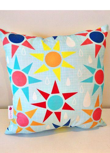 Nursery or playroom Cushion Cover Sun Showers #beanandme #nursery #nurserydecor