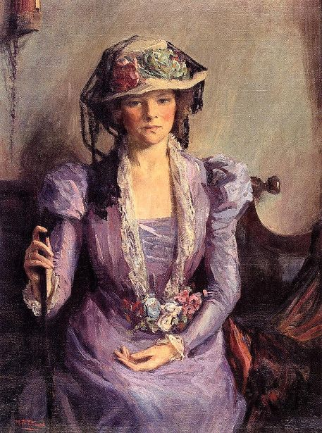 """The Lady in Lavender"" -- by Mary Bradish Titcomb (American, 1858 – 1927)"