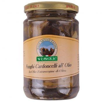 Suszone grzyby w oliwie. Boczniak mikołajkowy w oliwie z oliwek z dodatkiem przypraw jest soczysty, mięsisty, lekko słodki i orzechowy. W smaku przypomina abalone czyli morskiego ślimaka (ceniony i drogi przysmak).