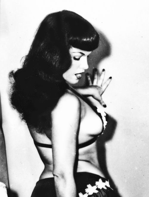 Bettie Page photographed by Irving Klaw c. 1950s