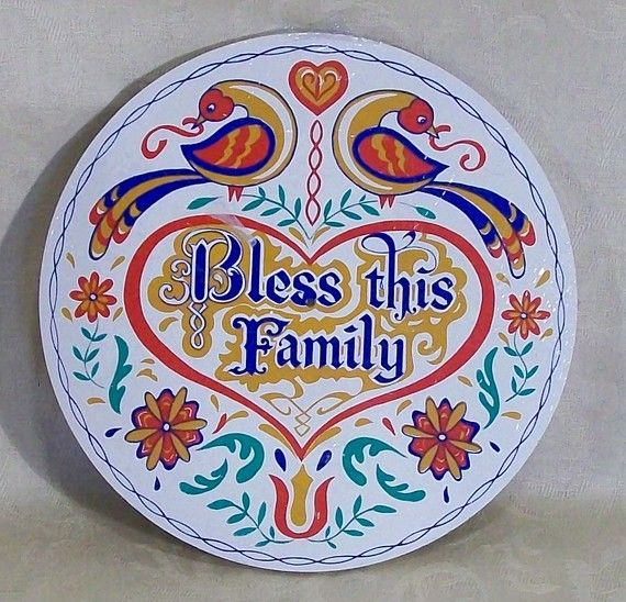 hex signs   Pennsylvania Dutch Hex Sign..Bless This Family..New Old Stock