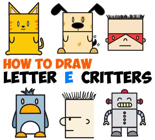 Cartoon Characters Using Shapes : Best cute cartoon characters ideas on pinterest