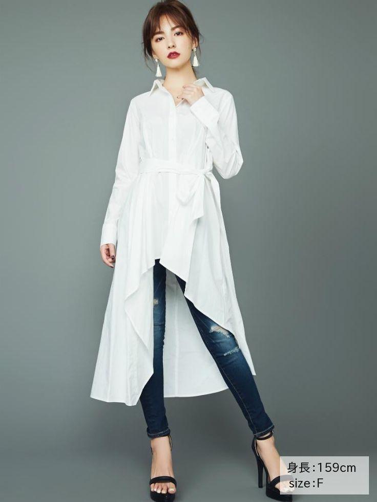 リゼクシー│RESEXXY公式ファッション通販|ランウェイチャンネルアシメロングシャツの詳細情報| RUNWAY channel(ランウェイチャンネル)(151740404601)