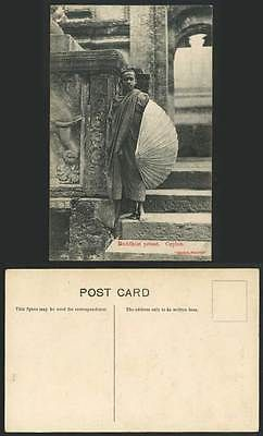 Ceylon old postcard buddhist #priests #native monk, steps, #temple sri lanka ceyl,  View more on the LINK: 	http://www.zeppy.io/product/gb/2/381491210955/