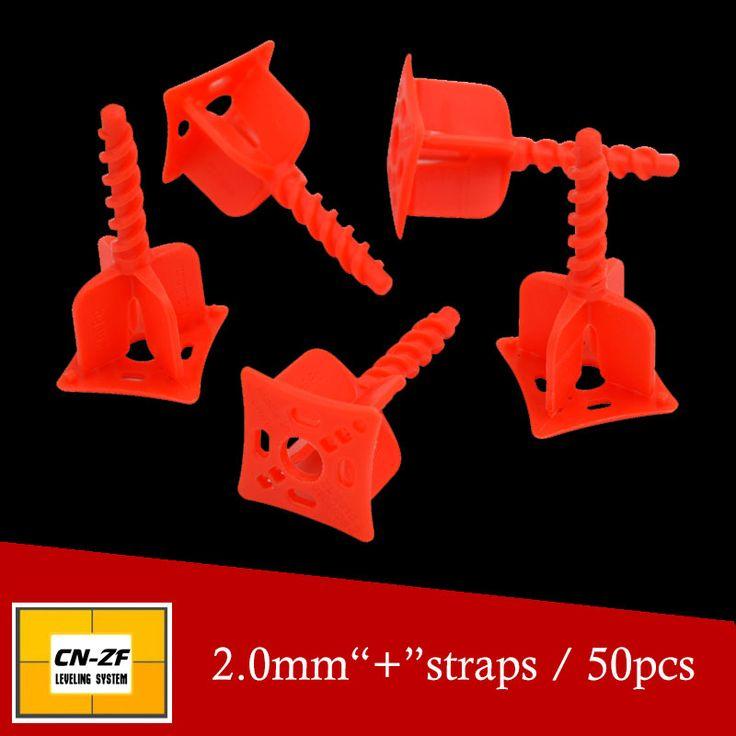 Tile leveling system spacer for the flooring- make the floor and  tile level and spacer tool-include 50pcs 2.0mm + straps