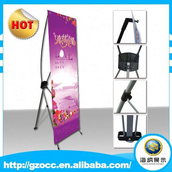 Factory hot sales portable cheap advertising promotion korea metal posters x banner stands for terminal advertising promotion