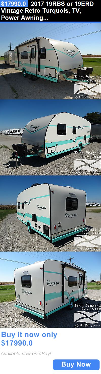 rvs: 2017 19Rbs Or 19Erd Vintage Retro Turquois, Tv, Power Awning - $158/Month BUY IT NOW ONLY: $17990.0
