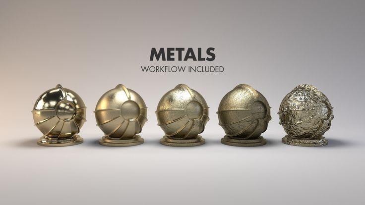 Material Studies: Metals, Jarrod Hasenjager on ArtStation at…