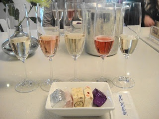 J C le Roux Champagne and nougat tasting- what a treat!
