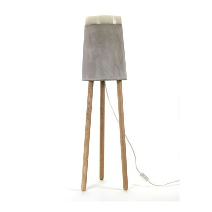 Concrete floor lamp large