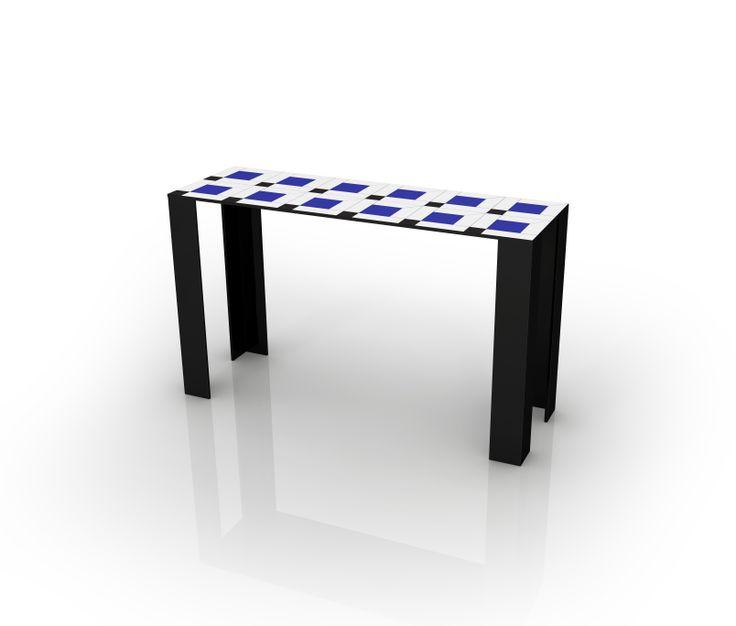 #coco console table, design by Elena Cutolo for #altreforme, A Moveable Feast, #paris in the #Twenties collection, #interior #home #decor #homedecor #furniture #aluminium